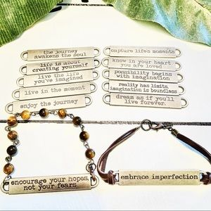 NEW Inspirational Quote Stacking Bracelets